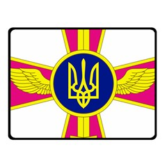 Emblem of The Ukrainian Air Force Fleece Blanket (Small)
