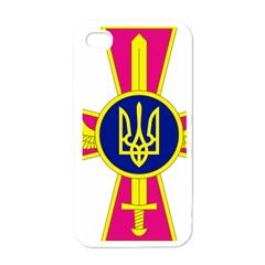 Emblem of The Ukrainian Air Force Apple iPhone 4 Case (White)