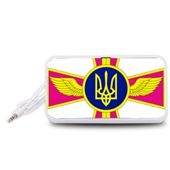 Emblem of The Ukrainian Air Force Portable Speaker (White)