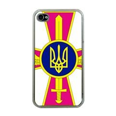 Emblem of The Ukrainian Air Force Apple iPhone 4 Case (Clear)