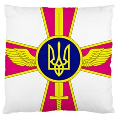 Emblem of The Ukrainian Air Force Large Cushion Case (Two Sides)