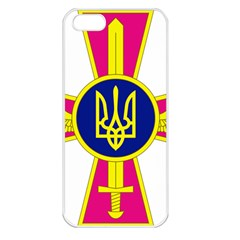 Emblem of The Ukrainian Air Force Apple iPhone 5 Seamless Case (White)