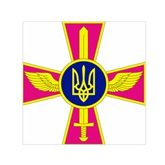 Emblem Of The Ukrainian Air Force Small Satin Scarf (square)