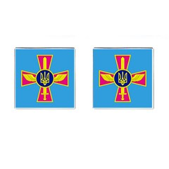 Ensign of The Ukrainian Air Force Cufflinks (Square)