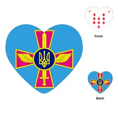 Ensign of The Ukrainian Air Force Playing Cards (Heart)