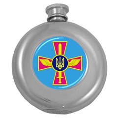 Ensign of The Ukrainian Air Force Round Hip Flask (5 oz)