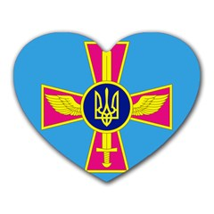 Ensign of The Ukrainian Air Force Heart Mousepads