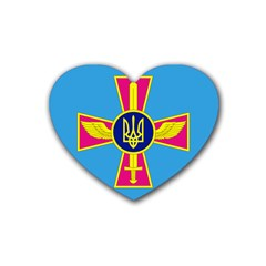 Ensign of The Ukrainian Air Force Heart Coaster (4 pack)