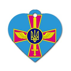 Ensign of The Ukrainian Air Force Dog Tag Heart (One Side)