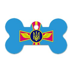 Ensign of The Ukrainian Air Force Dog Tag Bone (Two Sides)