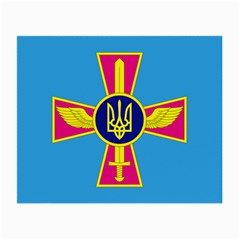 Ensign of The Ukrainian Air Force Small Glasses Cloth (2-Side)