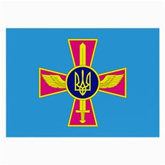 Ensign of The Ukrainian Air Force Large Glasses Cloth