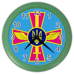 Ensign of The Ukrainian Air Force Color Wall Clocks