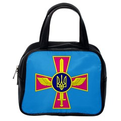 Ensign of The Ukrainian Air Force Classic Handbags (One Side)