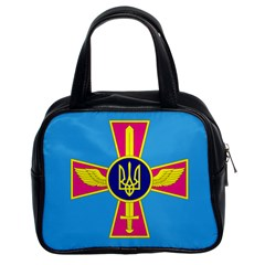 Ensign of The Ukrainian Air Force Classic Handbags (2 Sides)