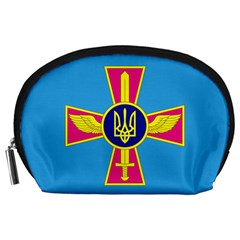 Ensign Of The Ukrainian Air Force Accessory Pouches (large)