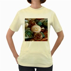 Rain Flower Stones Is A Special Type Of Stone Women s Yellow T Shirt