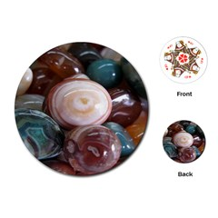 Rain Flower Stones Is A Special Type Of Stone Playing Cards (round)