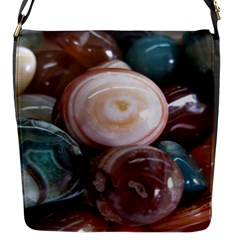 Rain Flower Stones Is A Special Type Of Stone Flap Messenger Bag (s)