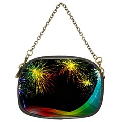 Rainbow Fireworks Celebration Colorful Abstract Chain Purses (one Side)