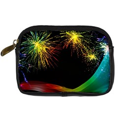 Rainbow Fireworks Celebration Colorful Abstract Digital Camera Cases