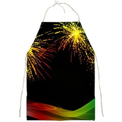 Rainbow Fireworks Celebration Colorful Abstract Full Print Aprons