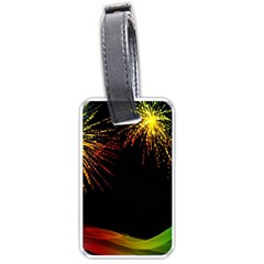 Rainbow Fireworks Celebration Colorful Abstract Luggage Tags (one Side)