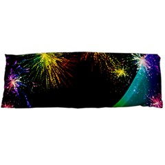 Rainbow Fireworks Celebration Colorful Abstract Body Pillow Case Dakimakura (two Sides)