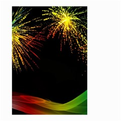 Rainbow Fireworks Celebration Colorful Abstract Small Garden Flag (two Sides)