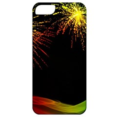 Rainbow Fireworks Celebration Colorful Abstract Apple Iphone 5 Classic Hardshell Case