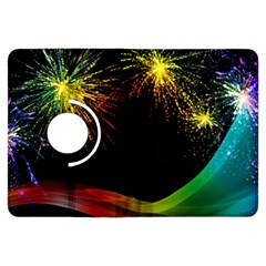 Rainbow Fireworks Celebration Colorful Abstract Kindle Fire Hdx Flip 360 Case