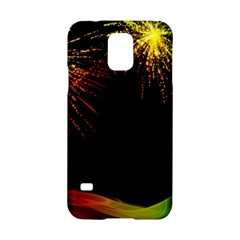 Rainbow Fireworks Celebration Colorful Abstract Samsung Galaxy S5 Hardshell Case