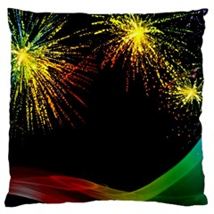 Rainbow Fireworks Celebration Colorful Abstract Standard Flano Cushion Case (one Side)