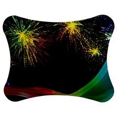 Rainbow Fireworks Celebration Colorful Abstract Jigsaw Puzzle Photo Stand (Bow)