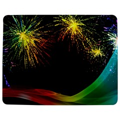 Rainbow Fireworks Celebration Colorful Abstract Jigsaw Puzzle Photo Stand (Rectangular)