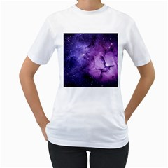 Purple Space Women s T Shirt (white) (two Sided)