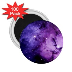 Purple Space 2 25  Magnets (100 Pack)