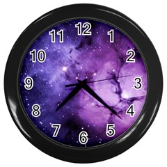 Purple Space Wall Clocks (black)