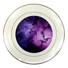 Purple Space Porcelain Plates
