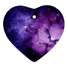 Purple Space Heart Ornament (two Sides)