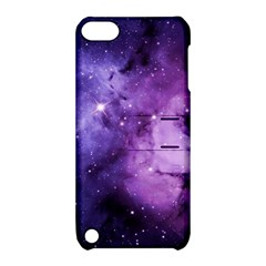 Purple Space Apple Ipod Touch 5 Hardshell Case With Stand