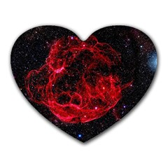 Red Nebulae Stella Heart Mousepads