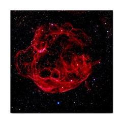 Red Nebulae Stella Face Towel