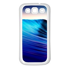 Rolling Waves Samsung Galaxy S3 Back Case (white)