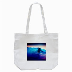 Rolling Waves Tote Bag (white)