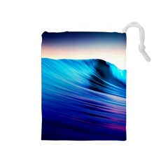 Rolling Waves Drawstring Pouches (medium)