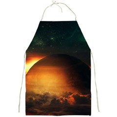 Saturn Rings Fantasy Art Digital Full Print Aprons