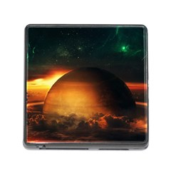 Saturn Rings Fantasy Art Digital Memory Card Reader (square)