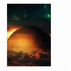 Saturn Rings Fantasy Art Digital Large Garden Flag (two Sides)