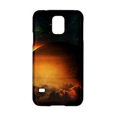 Saturn Rings Fantasy Art Digital Samsung Galaxy S5 Hardshell Case